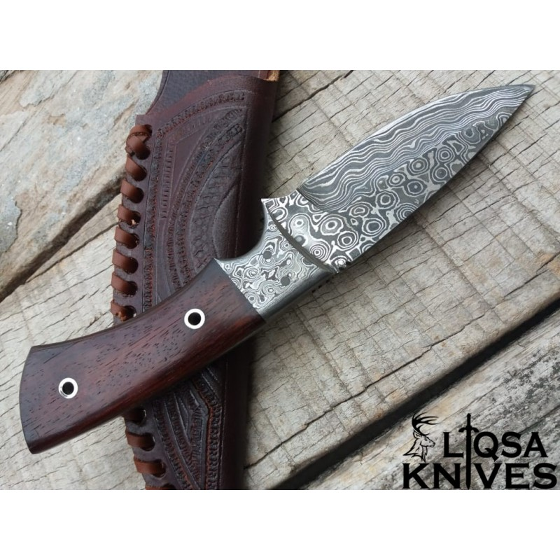 Damascus steel Skinner Knife/Hunting Knife Venge wood handle LTHK-044
