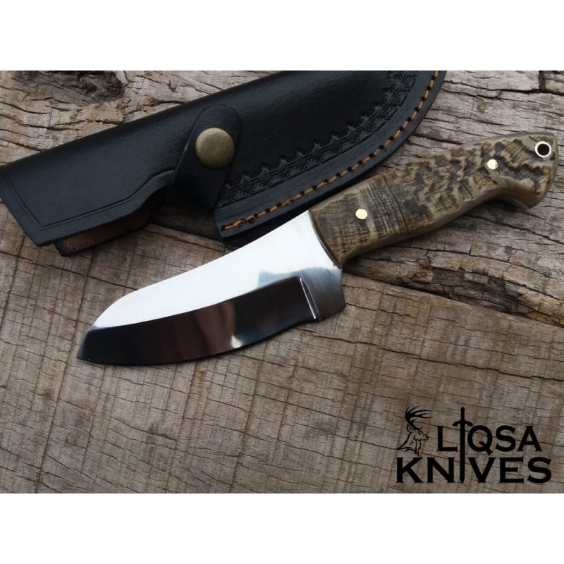 D2 steel skinner knife/hunter sheep horn handle LTS-059