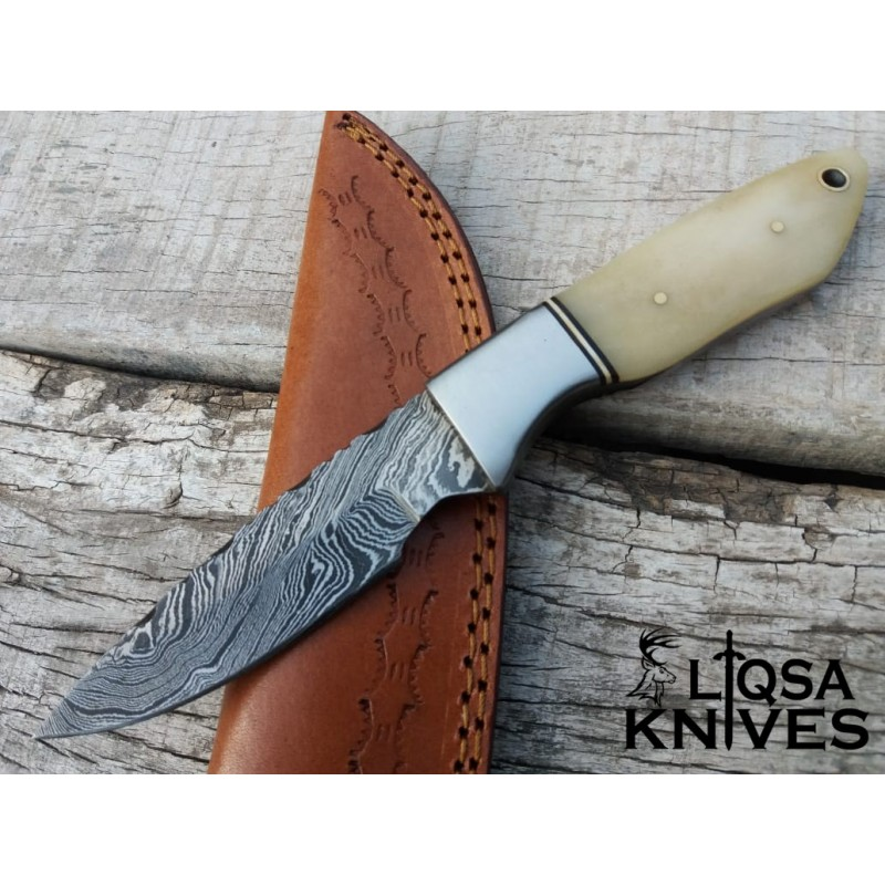 D2 steel Hunting Knife with stag antler handle LTHK-089
