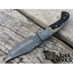 Damascus steel hunting knife / skinner LTHK-040
