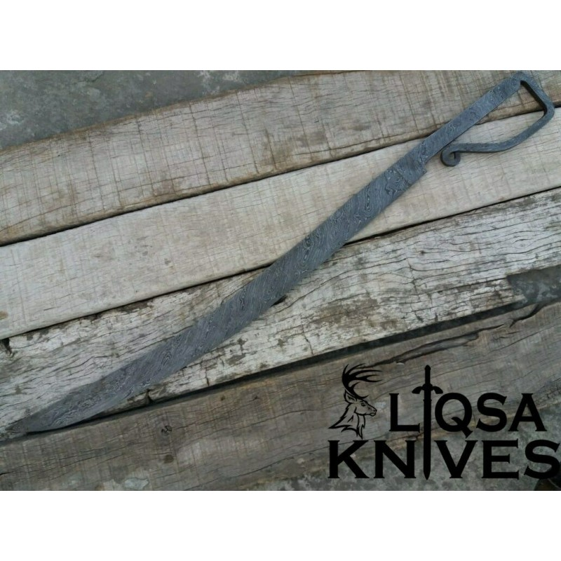 Damascus steel Full tang Battle ready antique forged vikings medieval sword LVS-001