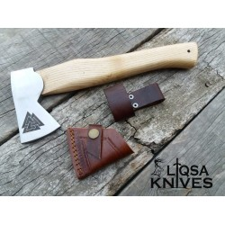 Carbon steel Vikings throwing Axe with Walknut marking LTX-017