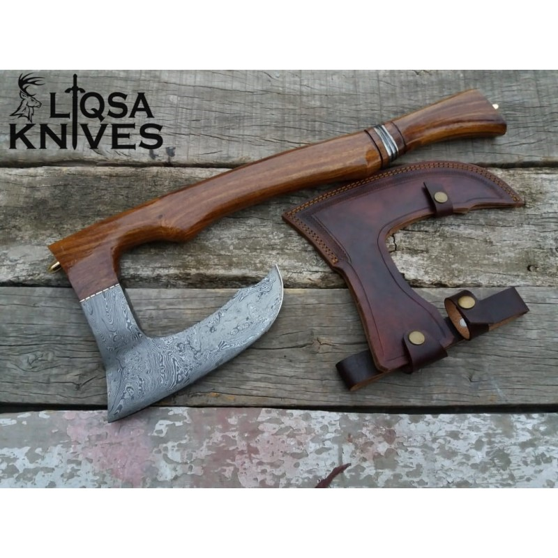 Damascus steel vikings battle axe The Big Beast LTX-018