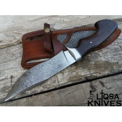 Beautiful Damascus steel combat Bowie knife LTBW-098