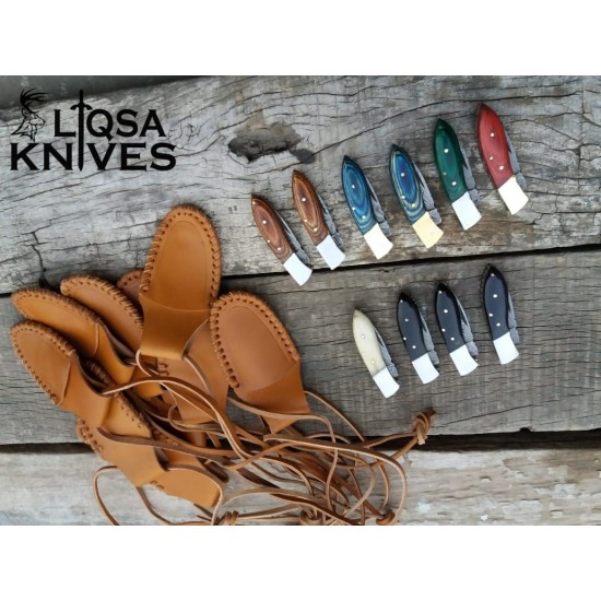 10 small folding pocket knives with assorted handles  LTM-002