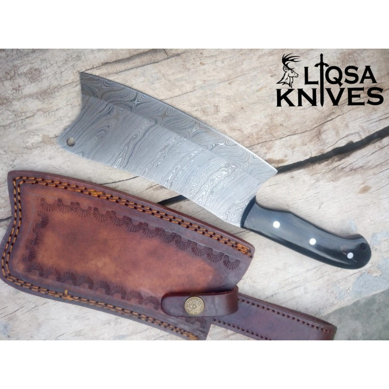 Damascus Steel Kitchen Cleaver/Chopper Knife LTC-025