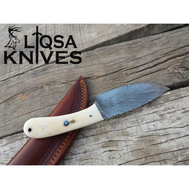 Feather Damascus steel skinner knife/Hunter LTSK-030