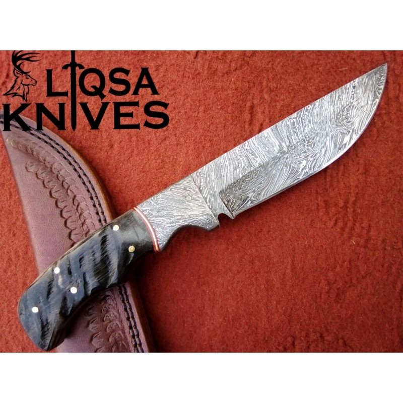 Custom made Damascus Steel Hunting Knife LTHK-009