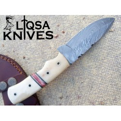 Damascus Steel Hunting Knife LQS-015